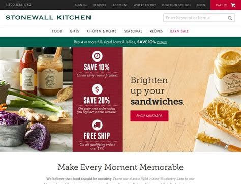 stonewall kitchen coupons stonewallkitchencom promo codes