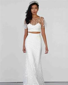 50 two piece wedding dresses martha stewart weddings With two piece dresses for weddings