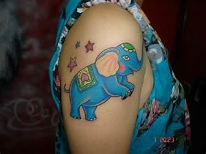 Colorful Baby Elephant Tattoo | www.pixshark.com - Images ...
