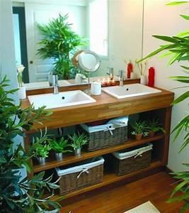 Creer salle de bain exotique salle de bain zen salle for Salle de bain design avec décoration de table exotique