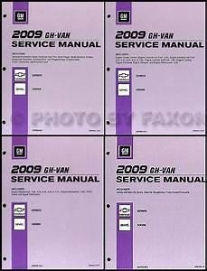 2009 Express Van Savana Repair Shop Manual 4 Volume Set