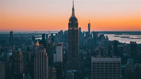 New York City Empire State Building Skyscrapers, Hd 4k Wallpaper