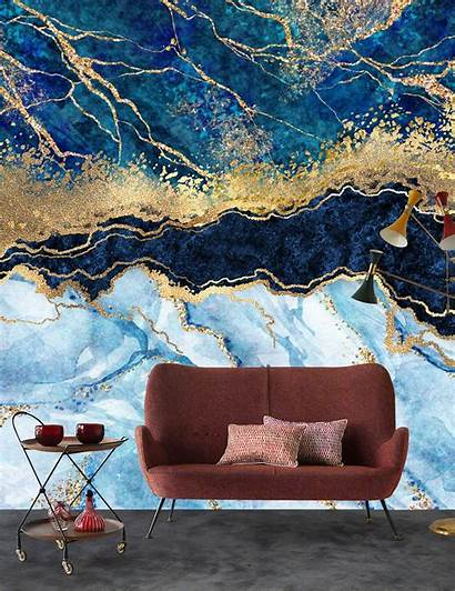 Marble Yellow Gold Bedroom Office Living Abstract