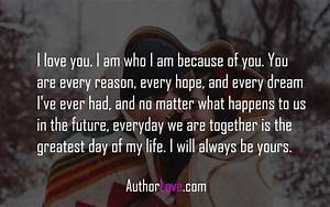 I love you. I am who I am because of you | Love Quotes ...