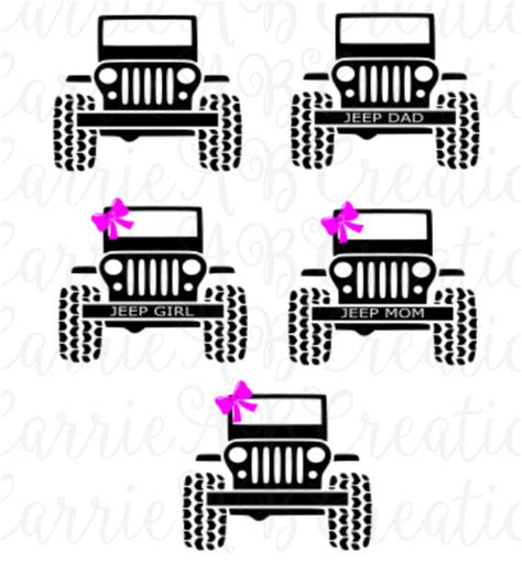 jeep beach decals jeep jeep dad jeep mom with bow jeep mom without bow jeep