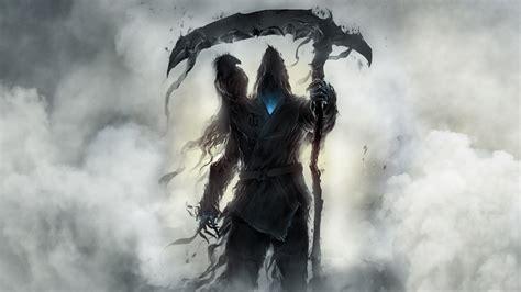 Download 1920x1080 Wallpaper Fantasy Grim Reaper Raven