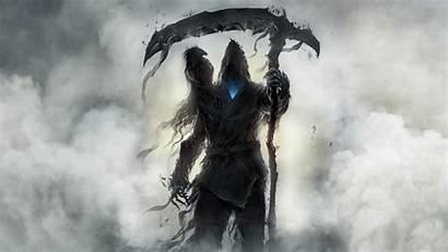 Reaper Grim Scythe Dark Fantasy Wallpapers Raven