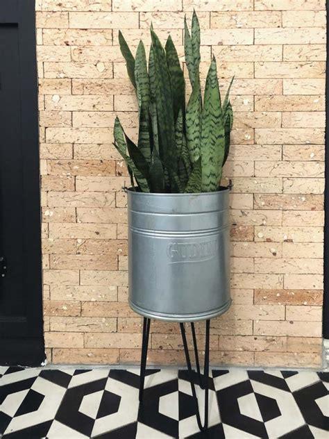 vaso de planta estilo rustico  industrial diy