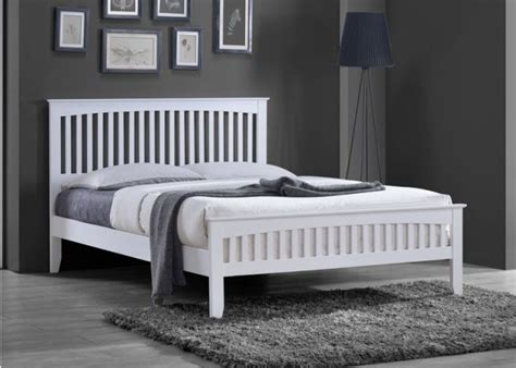 details   white solid country wooden wood pine bed