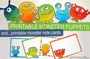 Free monster printables for my scaredy boy picklebums for Picklebums