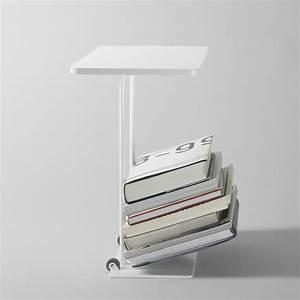 Nachttisch Metall Weiß : magazine beistelltisch zeitungsst nder nachttisch aus metall platte aus mdf mit rollen ~ Markanthonyermac.com Haus und Dekorationen