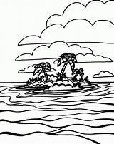 Coloring Ocean Island Printable Waves Plain Landforms G2 Social Oceans Popular Preschool Quizlet Template sketch template