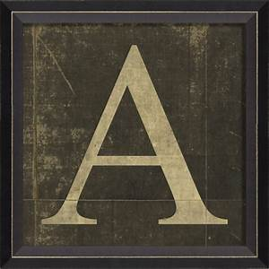 alphabet letter a framed wall art by spicher and company With framed letters for wall