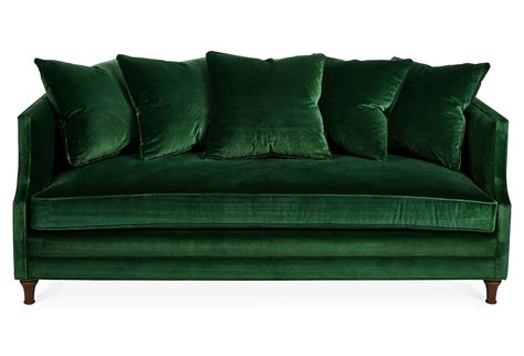 modern green velvet sofa dumont 85 quot velvet sofa emerald one kings lane коллажи