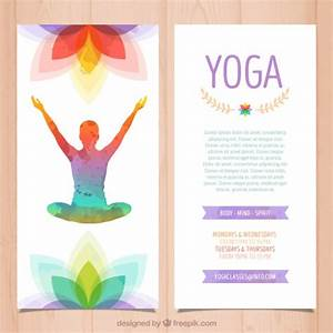 Microsoft Word Complaint Template Colorful Yoga Brochure Vector Free Download