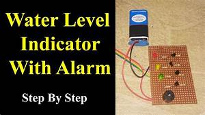 Water Level Indicator With Alarm On Pcb