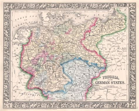 prussia   german states geographicus rare antique maps