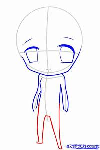 How to Draw a Chibi For Kids, Step by Step, Cartoons For ...