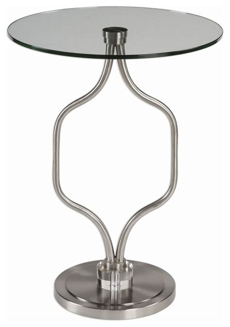 Uttermost Side Table by Uttermost Kizma Brushed Nickel Accent Table 24726