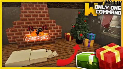 minecraft christmas decorations only one command 1 11