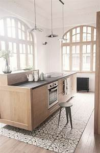 17 meilleures idees a propos de cuisine avec sol en for Tapis couloir avec canapé au sol modulable