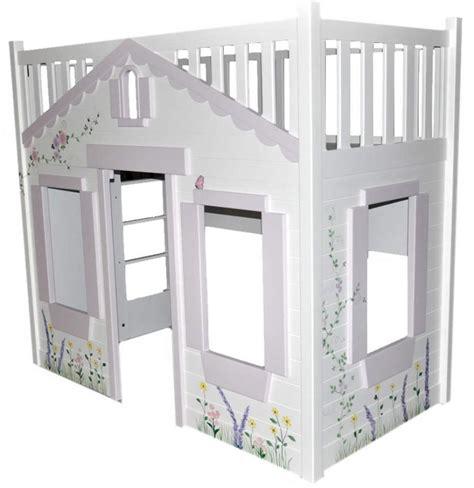 cottage loft bed storybook cottage loft bed pink