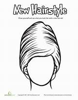 Coloring Education Hairstyle Cool Worksheet Hairstyles Different sketch template
