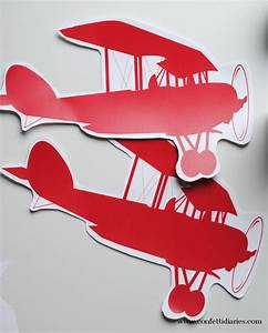 Free printable airplane party craft katarina39s paperie for Cut out airplane template