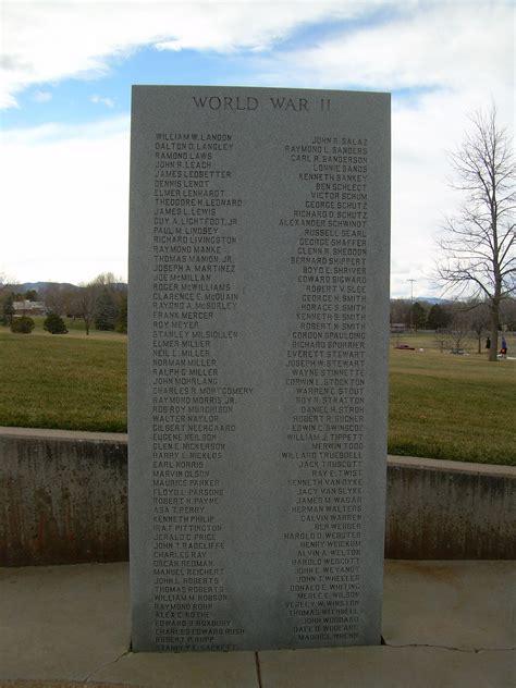veteran memorials edora city  fort collins