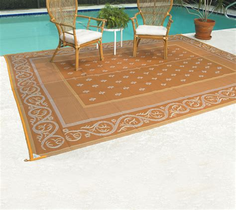 Reversible Outdoor Patio Mats by Patiomats 213 Reversible Patio Mat 9 X 12 Royal Beige Ebay