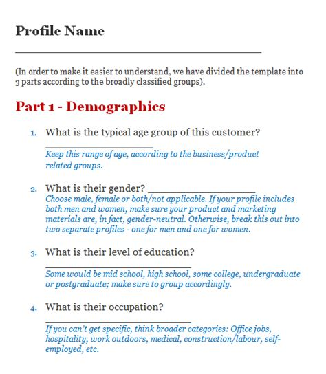 customer profile template 5 exles of ideal customer profile aeroleads