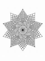Coloring Stars Zentangle Adults Adult Printable Mycoloring sketch template