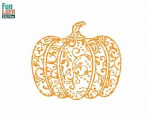 Halloween SVG Zentangle Pumpkin SVG Doodle Pumpkin