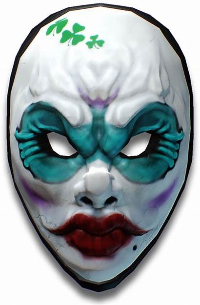 Payday Clover Character Female Mask Diamond Face