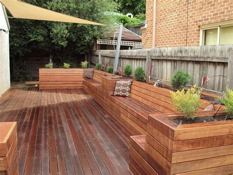 deck planter box bench home exterior mountain house