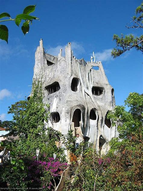 exotic  strange architecture  hang nga guesthouse