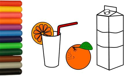 Juice Clipart Colouring Page