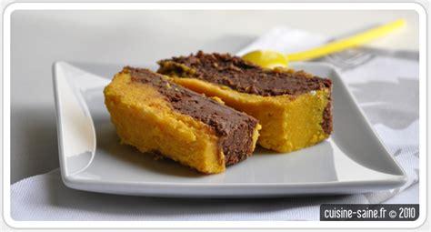 cuisine saine et bio recette bio gâteau duo de chocolat et courge butternut