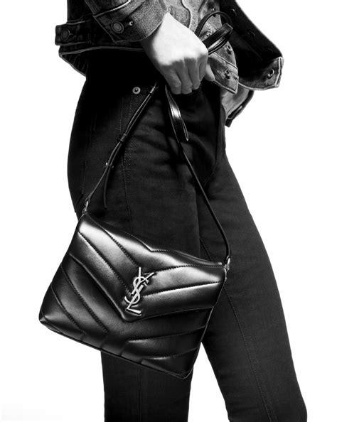 saint laurent toy loulou strap bag  pale blush  matelasse leather yslcom
