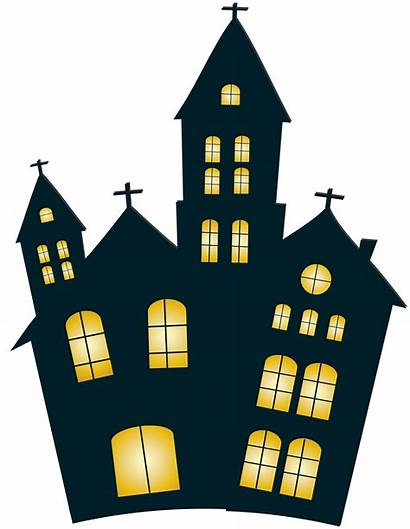 Night Clipart Halloween Clip Houses Transparent Nighttime