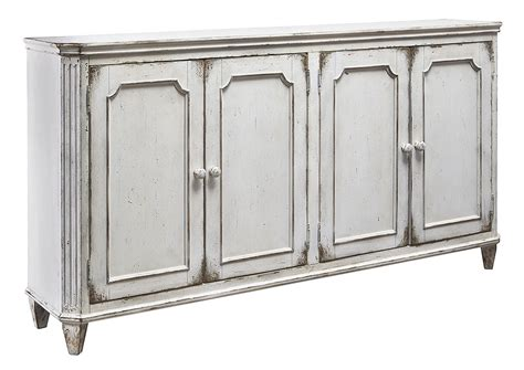 white accent cabinets with doors ivan smith mirimyn antique white 4 door accent cabinet