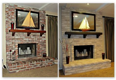 painting  brick fireplace hometalk