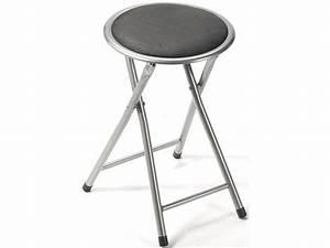Tabouret Bar Pliant : tabouret pliant folk coloris gris vente de chaise de ~ Melissatoandfro.com Idées de Décoration