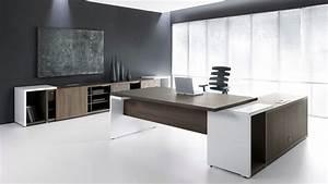 Ultra Modern White Espresso Desk - Ambience Doré