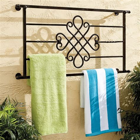 outdoor towel rack outdoor decorative towel rack ballard designs