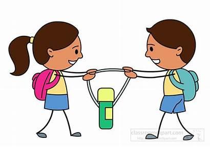 Fight Children Water Bottle Clipart Fighting Arguing