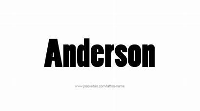 Anderson Tattoo Designs