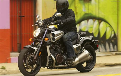 2009 Yamaha Vmax Widescreen Exotic Bike Wallpapers 02 Of