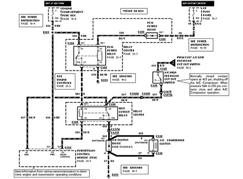 1994 Lincoln Town Car Ignition Wiring Diagram by 995 Lincoln Town Car Can Get Power To A C Compressor