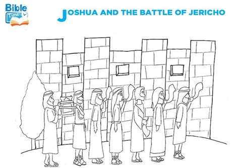 battle  jericho bible coloring page coloring sheets  toddlers preschoolers